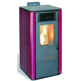 PELLET STOVE AMG DAWN MOD. 12 KW 10,1-RED COLOR