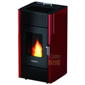 STOVES FREEPOINT-CADEL PELLET LEONORA 7KW RED