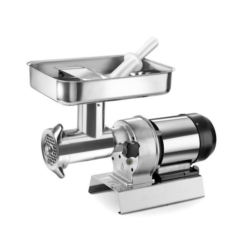 TRE SPADE meat GRINDER ELECTRIC No. 32 ELEGANT PLUS STAINLESS STEEL HP. To 1.5 WATTS. 1100