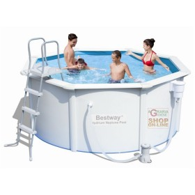BESTWAY 56563 PISCINA STEEL WALL HYDRIUM POSEIDON RIGIDA TONDA DIAM. 300 x 120h. ALL INCLUSIVE