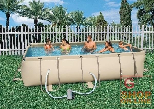 Bestway piscina con telaio con pompa for Pulitore piscina bestway
