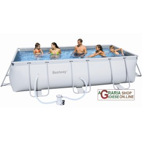 BESTWAY SWIMMING POOL WITH SELF-SUPPORTING FRAME WITH PUMP