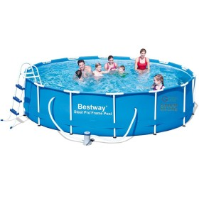 BESTWAY ROUND POOL WITH FRAME STEEL PRO FRAME CM. 427X100h.