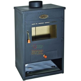 WOOD BURNING STOVE IN THE STAINLESS STEEL MODEL CLASSIC