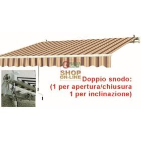 TENDA DA SOLE CON BRACCIA RETRATTILI BIANCA ROSSA CM.395X250