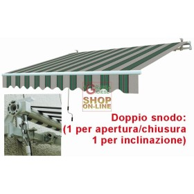 AWNING ARMS RETRACTABLE WHITE GREEN CM.395X250
