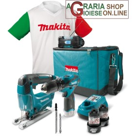 MAKITA KIT TRAPANO A PERCUSSIONE 2 BATTERIE 10,8 V LI ON