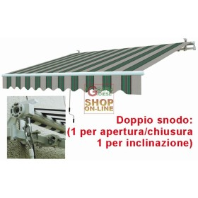 AWNING ARMS RETRACTABLE WHITE GREEN CM.295X200