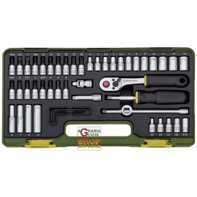 PROXXON 23280 SERIES SOCKET WRENCHES 1/4 BY 49 PIECES