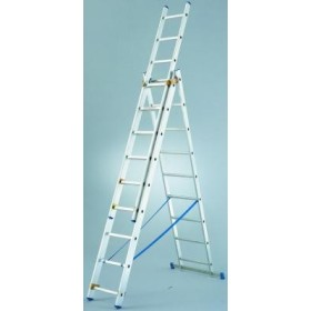 ESCANOR ALUMINIUM LADDER 3 RAMPS 11+11+11