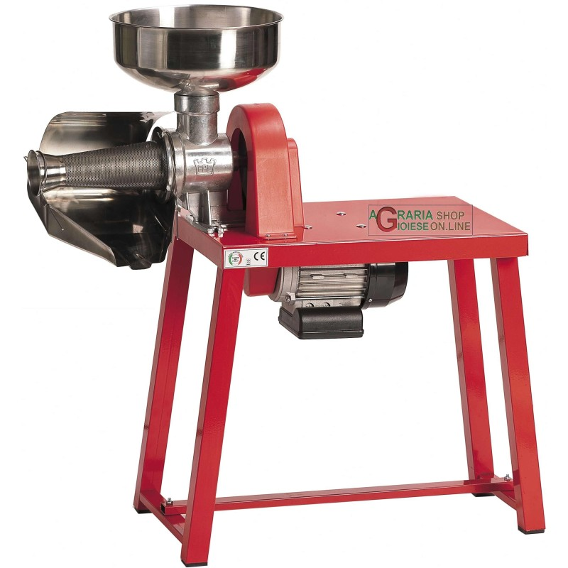 FPL ELECTRIC TOMATO MILL WITH BANQUET FUNNEL AND CHUTE