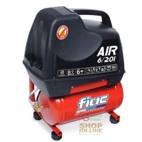 ELECTRIC COMPRESSOR FIAC AIR 6/201 COMPRESSED AIR PORTABLE TANK