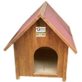 KENNEL FOR THE DOG IN THE WOOD MEDIUM PAINTED CM. 66x78X92h