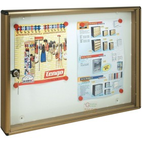 The bulletin board IN ALUMINUM BRONZE WITH a MAGNETIC BOTTOM