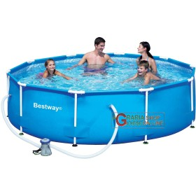 BESTWAY 56059 SWIMMING POOL WITH FRAME AND PUMP DIA.CM.305X76H