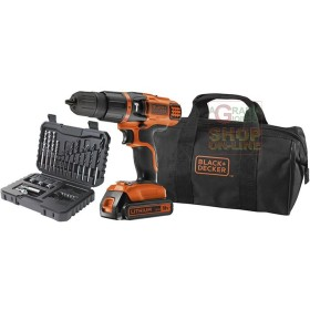 BLACK AND DECKER PERCUSSION DRILL BATTERY 18VP LITHIUM MOD.