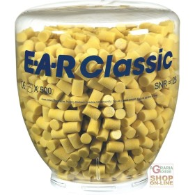 Carica da 500 paia tappi ear classic per dispenser one for Migliori tappi antirumore