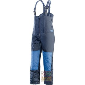 BIB PANTS IN ISOSOFT® FOR COLD STORAGE COLOUR BLUE EN 342 TG