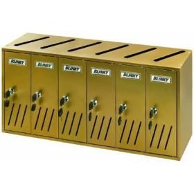 BLINKY CASIER POSTAL ALU BRONZE K-6 SR. 6 62X17,5X30 27358-06/1
