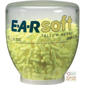 LOAD FROM 500 PAIRS OF PLUGS EARSOFT YELLOW NEON FOR THE