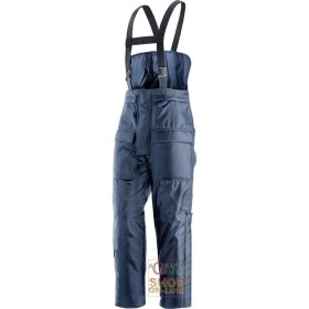 PANTS BIB INSULATED 100% POLYESTER COLOR BLUE EN 342 TG