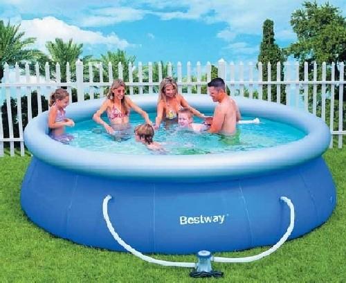 Bestway piscina autoportante cm 366x91h mod 57263 for Piscina tubular 366 x 91