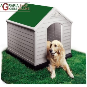 DOG KENNEL DOG HOUSE KETER ROOF COLOR GREEN CM 95x99x99h EXTRA