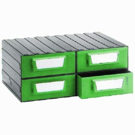 CHEST OF DRAWERS FOR THE OFFICE, PVC 4 POSTS