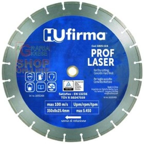 HU-FIRMA DISCO DIAMANTATO A SETTORE PROF-LAS DIAMETRO MM. 350