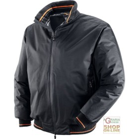 NYLON JACKET PU LINED INSIDE WITH FLEECE COLOR BLACK TG S XXL