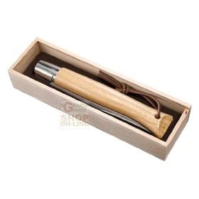 OPINEL COLTELLO VIROBLOC GIAGANTE PLUMIER CON BOX IN LEGNO CON MANICO IN LEGNO DI QUERCIA N. 13