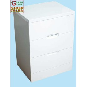 CHEST OF DRAWERS 3 DRAWERS WHITE LACQUERED CM. 50X40X67H