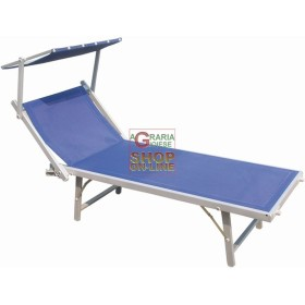 BLINKY A SUN LOUNGER IN ALUMINUM WITH ADJUSTABLE 183X72X90