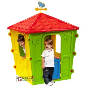 PLAYHOUSE FOR CHILDREN IN THE THERMOPLASTIC RESIN COLORED CM.