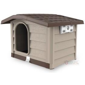Cuccia per cani di media taglia Bama Bungalow beige dimensioni