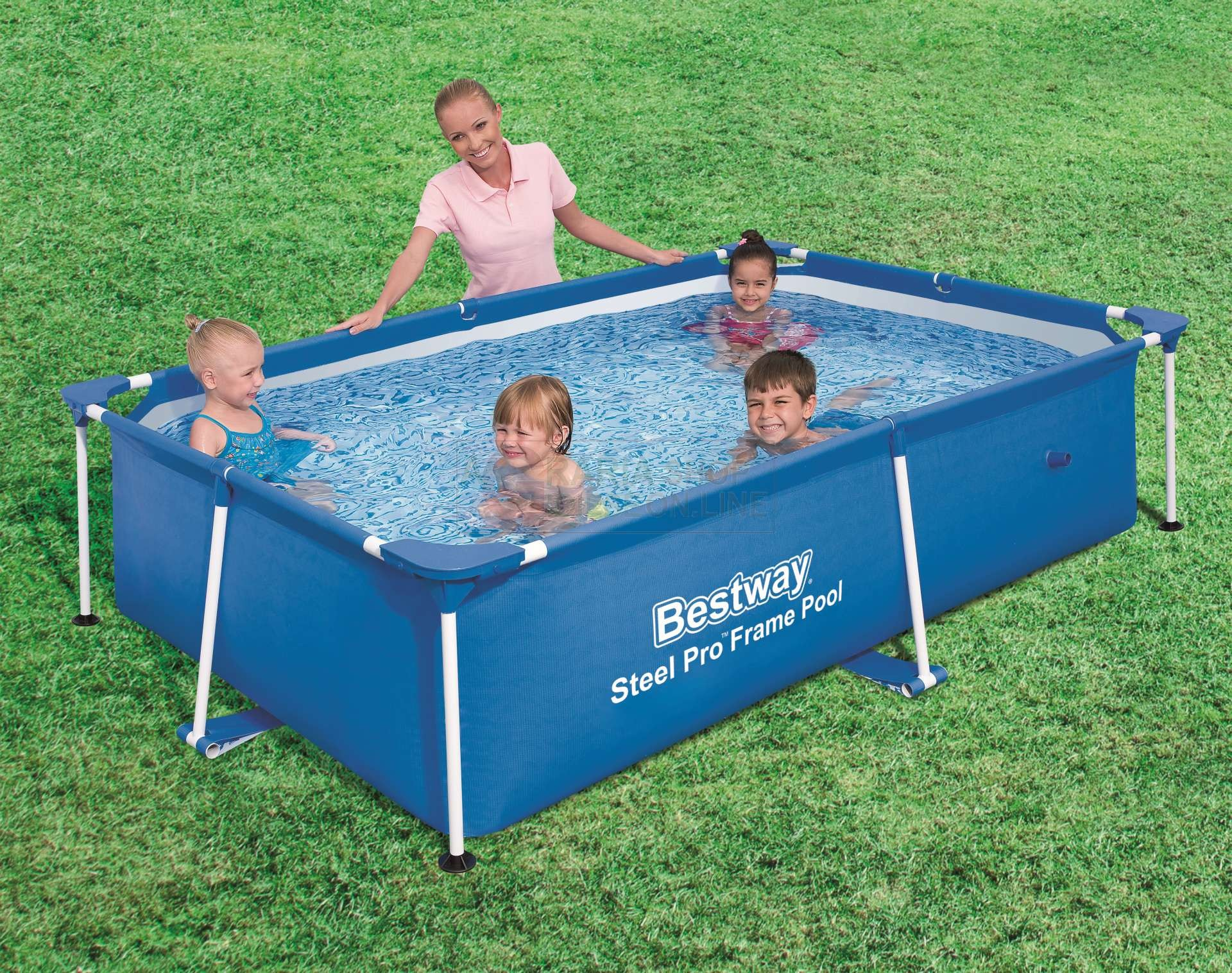 Buy bestway 56402 swimming pool with frame and - Bagnoschiuma per piscina ...