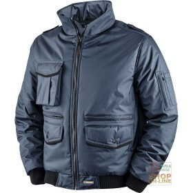 JACKET IN POLYESTER PVC WITH PLASTIC SHEETING AND BANDS HV