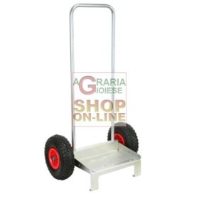 UTILITY CART UNIVERSAL STAINLESS STEEL ZINC-PLATED WHEELS