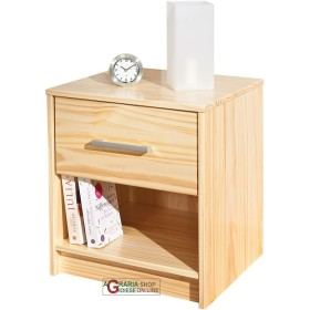BEDSIDE table IN SOLID PINE COLOUR: WOOD cm. 42x40x49H