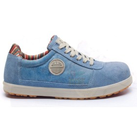 DIKE SHOES ANTIFORTUNISTICA LOW LADY D LEVITY S1P SRC SKY VELOUR, CANVAS TAGS. 39 - 46
