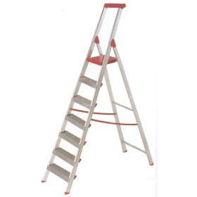 AMBER ALUMINIUM LADDER STEPS 7 BLUE