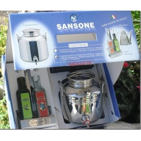 SAMSON GIFT BOX STAINLESS STEEL CONTAINER. LT. 3 WITH STAND OIL