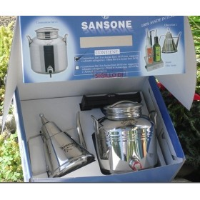SAMSON GIFT BOX STAINLESS STEEL CONTAINER. LT. 3 MORE CRUET LUX