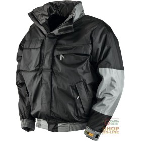 JACKET IN POLYESTER PVC PADDED FLEECE COLOR BLACK TG S XXL