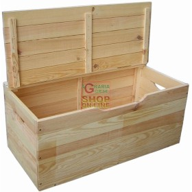 CHEST WOODEN TULIP WITH COVER 100X40X50H
