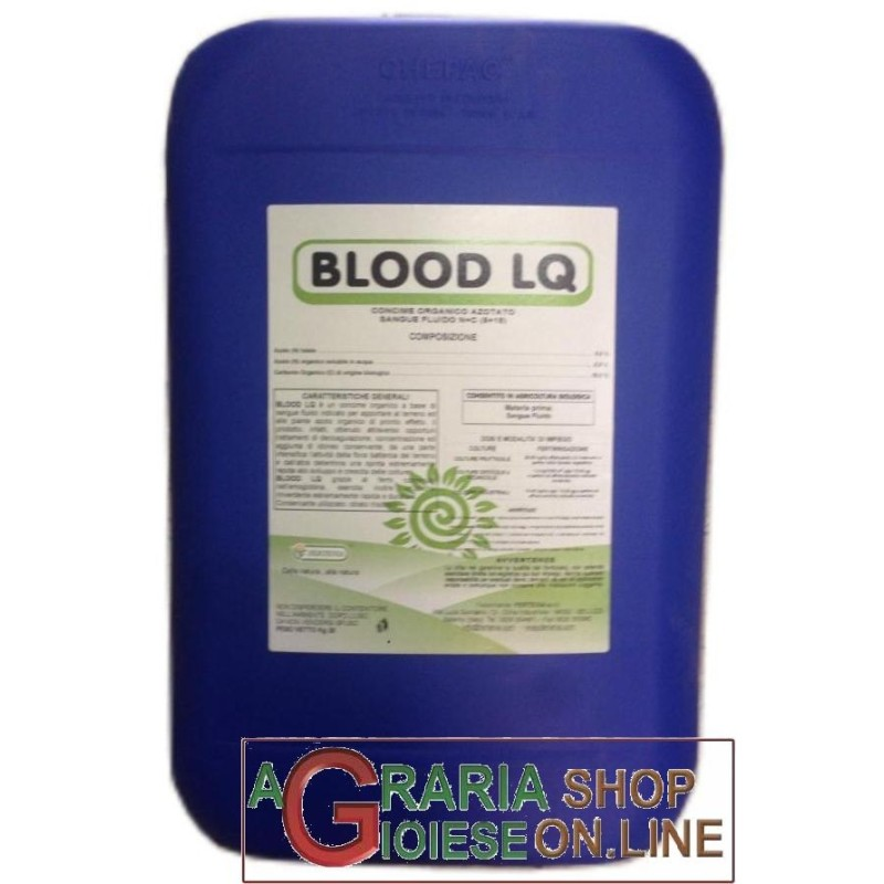 FERTENIA BLOOD LQ CONCIME ORGANICO A BASE DI SANGUE IDROSOLUBILE KG. 25