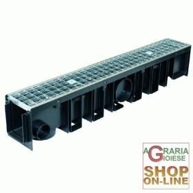 CHANNEL WITH GRID, GALVANISED B125 100X12X17H ALPHA 100/120