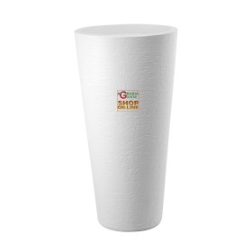 DIMARTINO VASO CON PORTAVASO TIRSO PLUS COLORE WHITE DIAM. 40 X