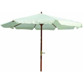 BLINKY BEACH UMBRELLA WOOD-30V WHITE WITH WINCH DIA. MT. 3