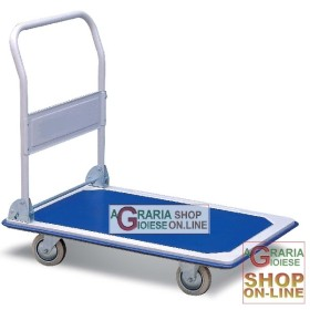 TROLLEY WITH PLATFORM, FOUR WHEELS CM. 92x62x6 LARGE-CAPACITY